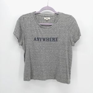 Madewell ANYWHERE Graphic Striped Crew Tee